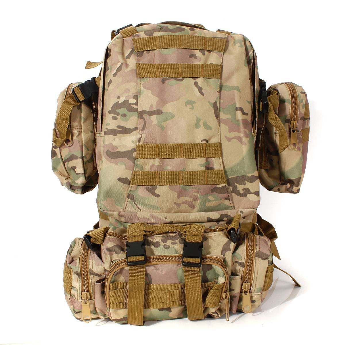 CAMTOA 50L Tactical Backpack Outdoor 50L 3D Molle Tactical Military Rucksack