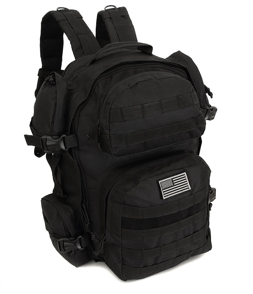 NPUSA Men's Large Expandable Tactical Molle Hydration ReadyBackpack Daypack