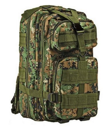 Tactic Shield Stealth Black Waterproof Full Featured Assault Pack Backpack