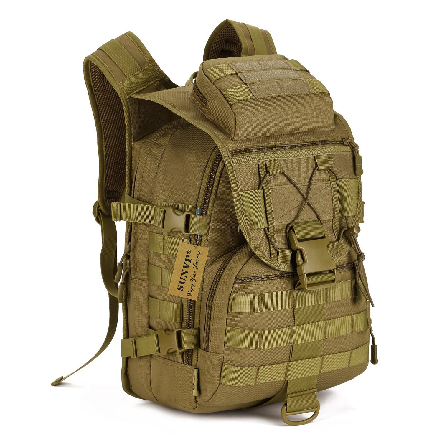 SUNVP 40L Tactical Daypack MOLLE Assault Backpack Pack Military Gear Rucksack